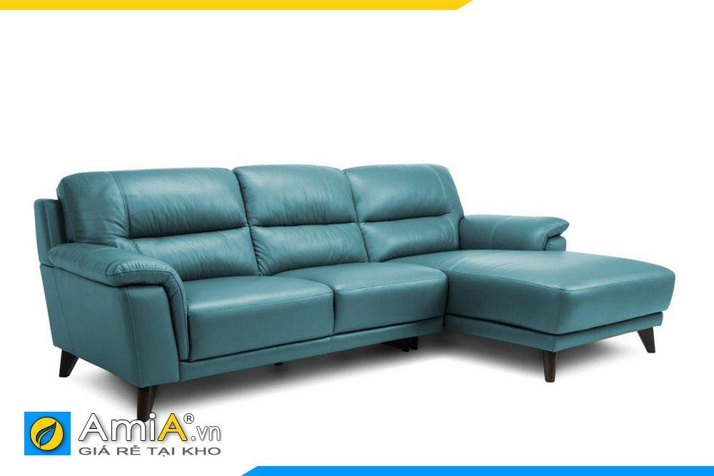 Màu xanh nhạt giúp bộ sofa sáng hơn trong không gian của bạn