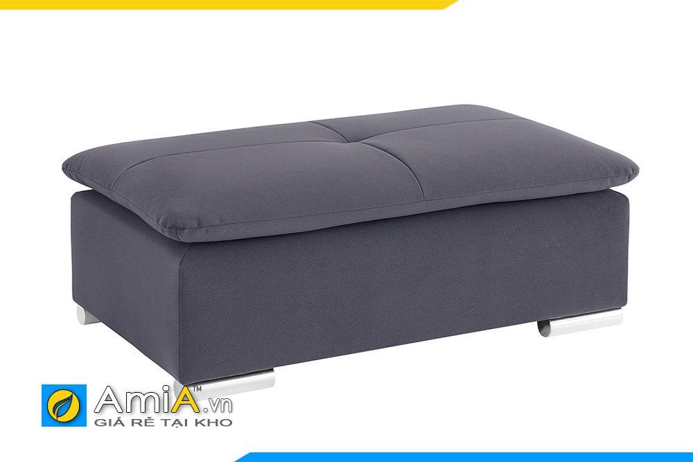 Sofa đơn màu ghi, đệm 2 lớp, chân inox chắc khỏe