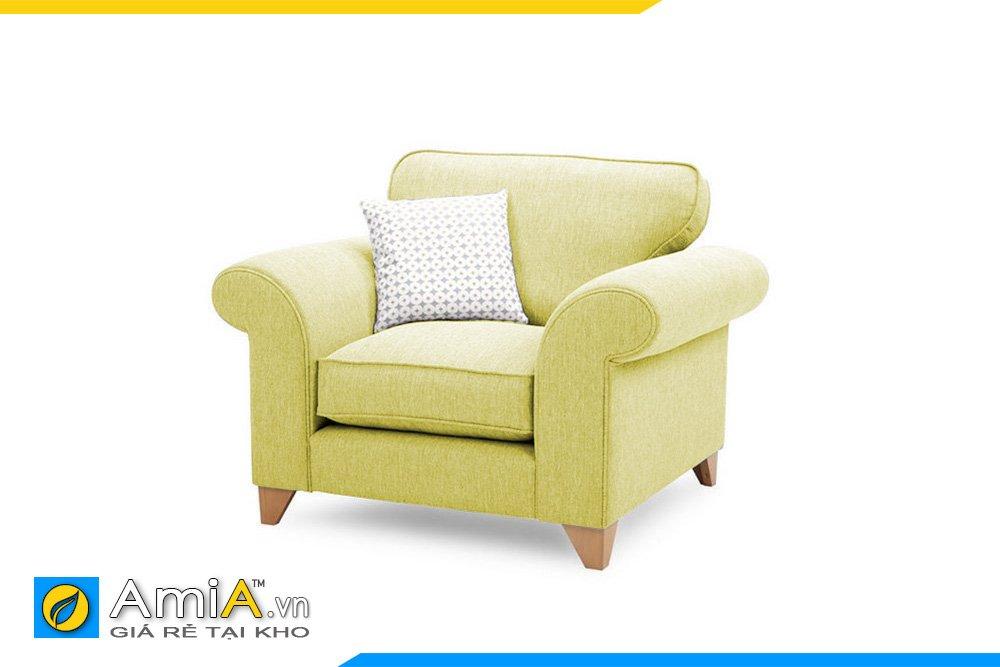 Ghế nỉ màu xanh cốm có kiểu dáng tân cổ điển