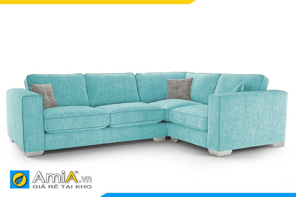 Bộ sofa góc màu xanh trẻ trung hiện đại cho chủ nhân thích sự nhẹ nhàng của màu xanh