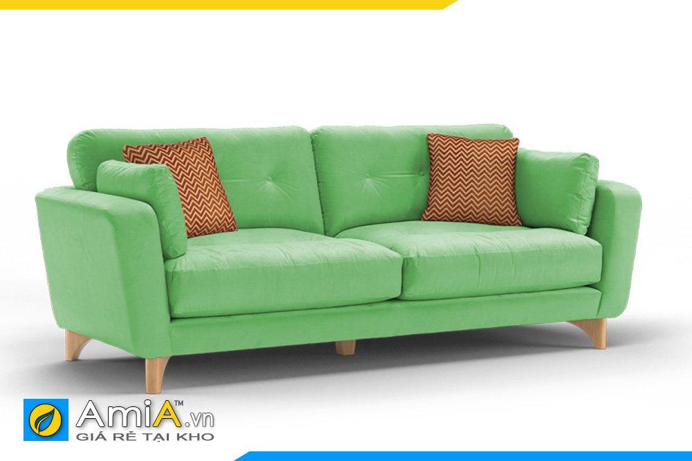 Sofa văng nỉ màu xanh lá