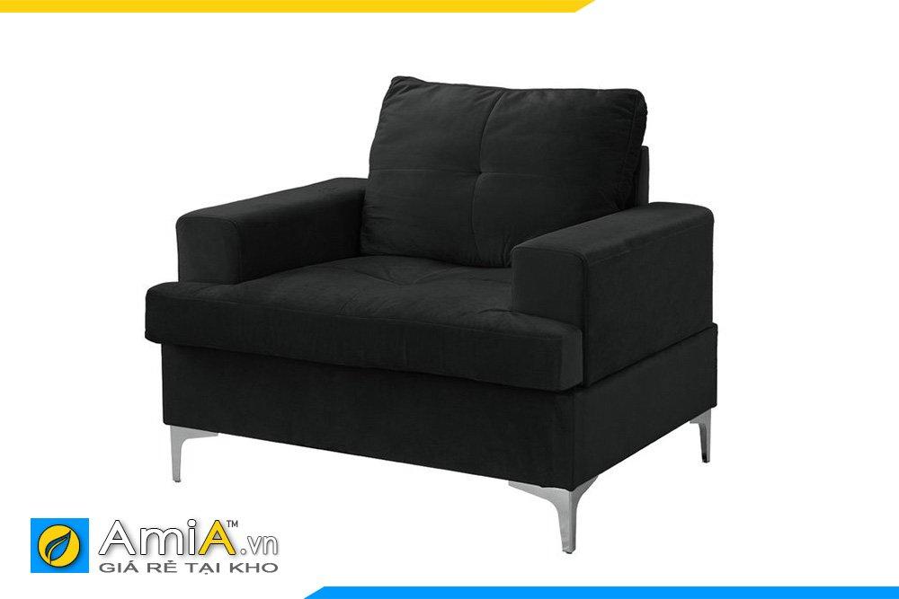 Chiếc ghế sofa đơn màu den huyền bí