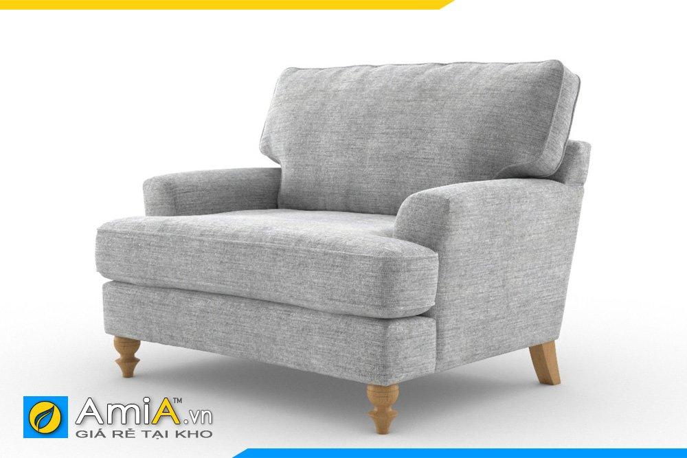 Sofa đơn 1 chỗ ngồi màu ghi