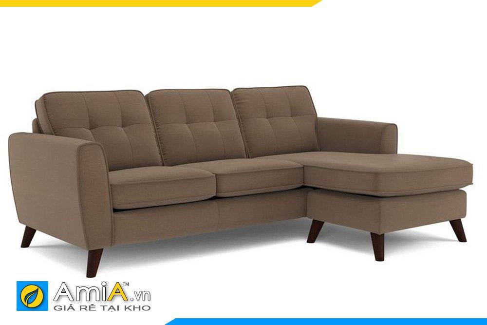 sofa nỉ màu nâu cafe hiện đại phù hợp với kiểu không gian có tông màu sáng, nâu