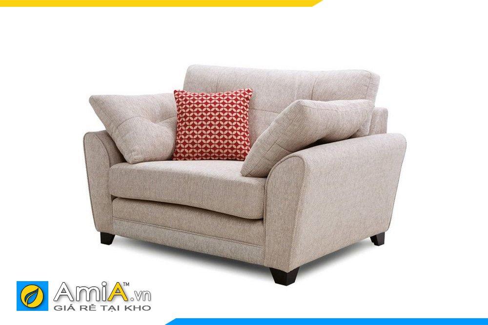 Ghế sofa đơn tựa tay ngả phía ngoài chất liệu nỉ thô thân thiện
