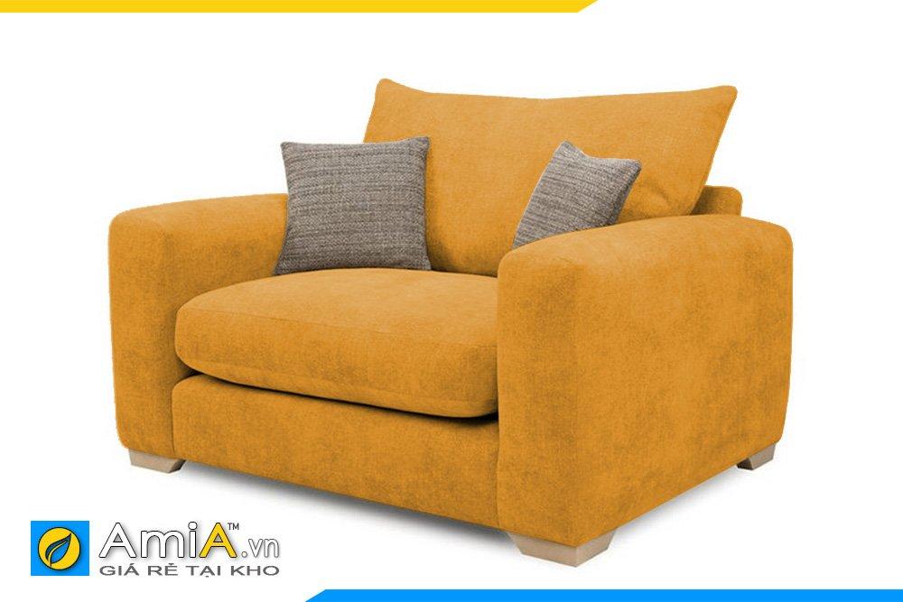 Ghế sofa đơn màu nâu đất với tựa lưng và đệm có thể tháo rời giúp vệ sinh dễ dàng hơn