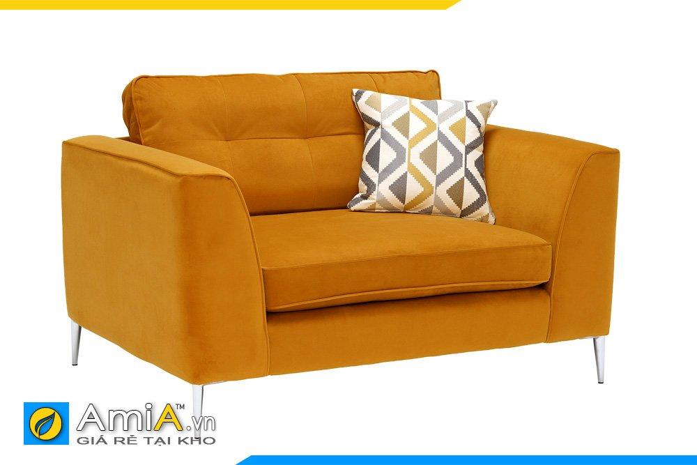 Ghế sofa đơn chân cao chỗ ngồi rộng màu cam đất sẽ giúp bạn luôn có cảm giác thoải mái và ấm áp