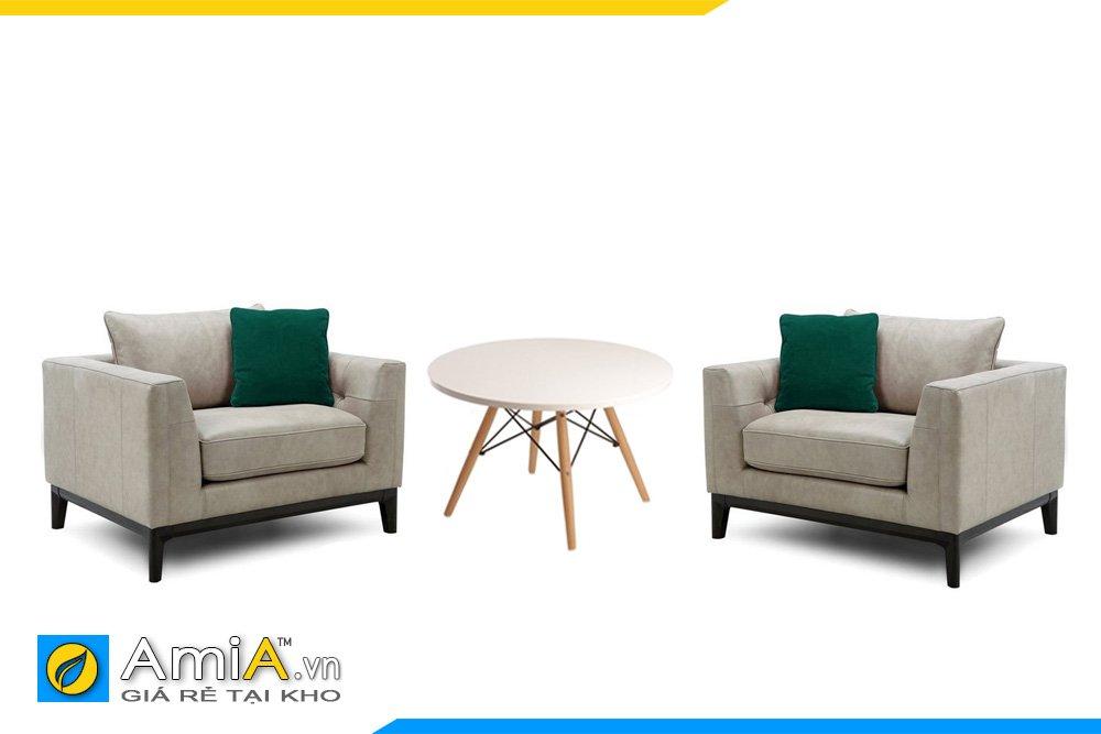 Một kiểu kết hợp giữa 2 ghế đơn và bàn trà mặt tròn