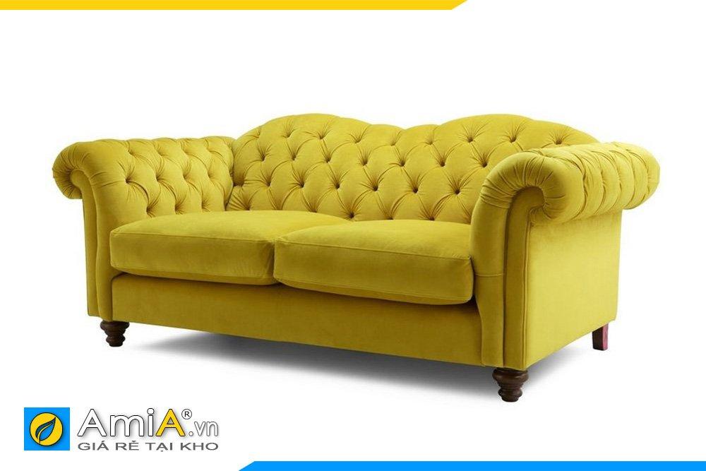 Một góc hình ảnh bộ sofa nỉ kiểu dáng văng tân cổ điển cho phòng khách