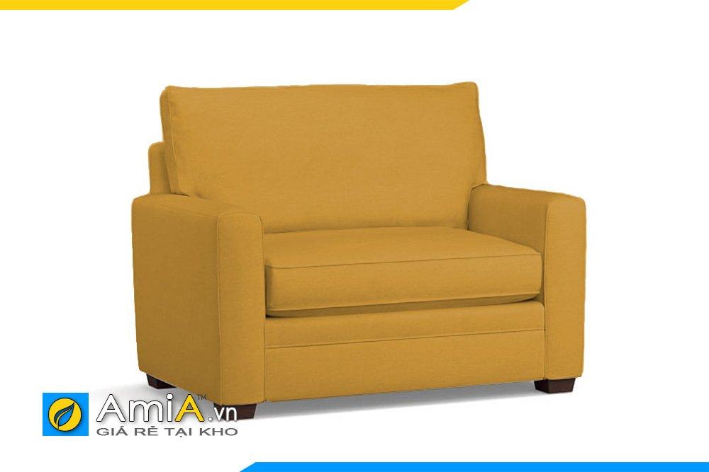 Sofa đơn màu nâu