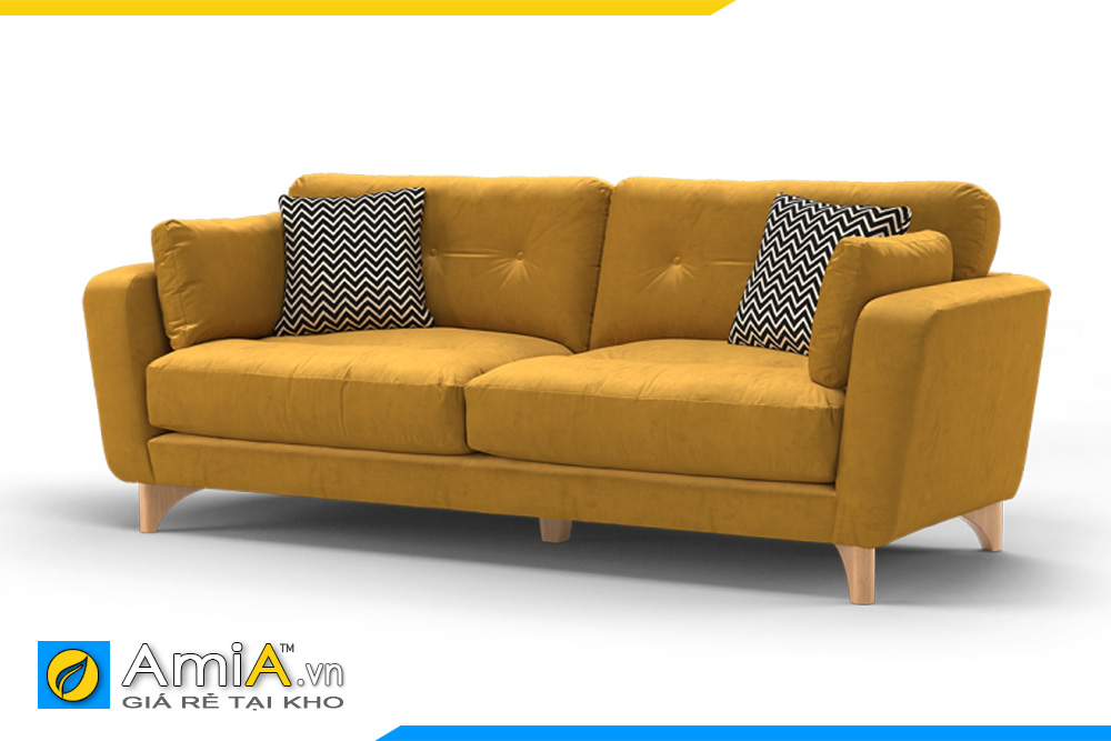 Sofa màu vàng hợp với gia chủ mệnh Hỏa sẽ là điểm nhấn cho không gian có tổng thể màu vàng nâu