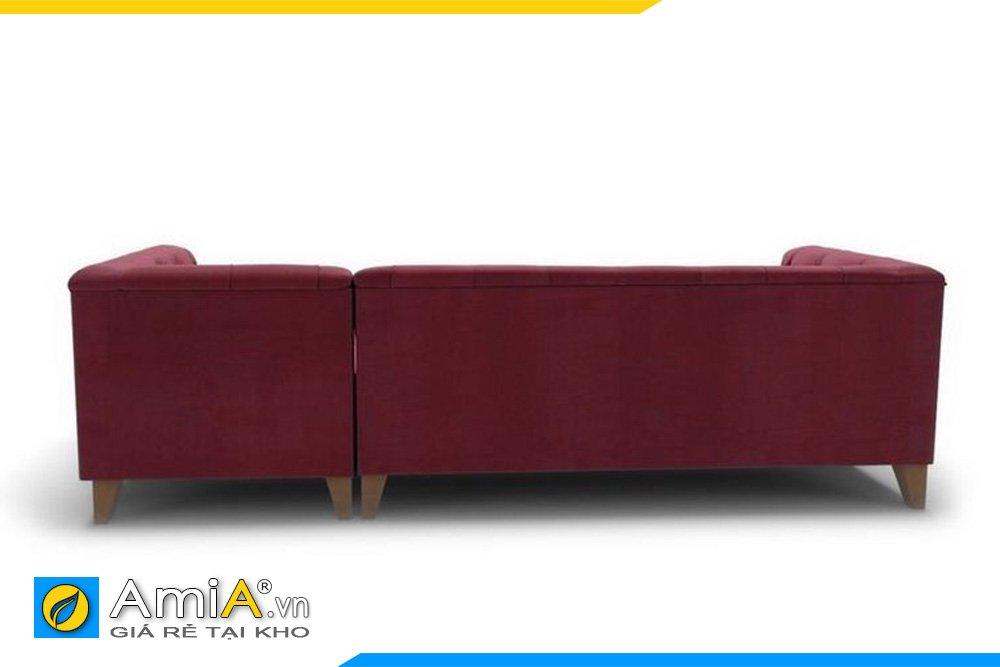 Mặc sau phẳng giúp kê sát bộ sofa vào tường tiết kiệm diện tích