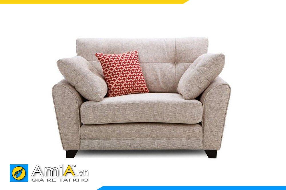 Sofa nỉ thô có tựa lưng và đệm có thể tháo rời