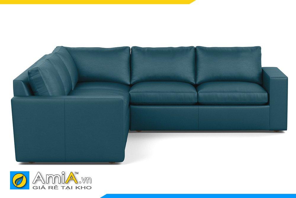 Sofa chữ V màu xanh đậm bộ đội phù hợp kê văn phòng