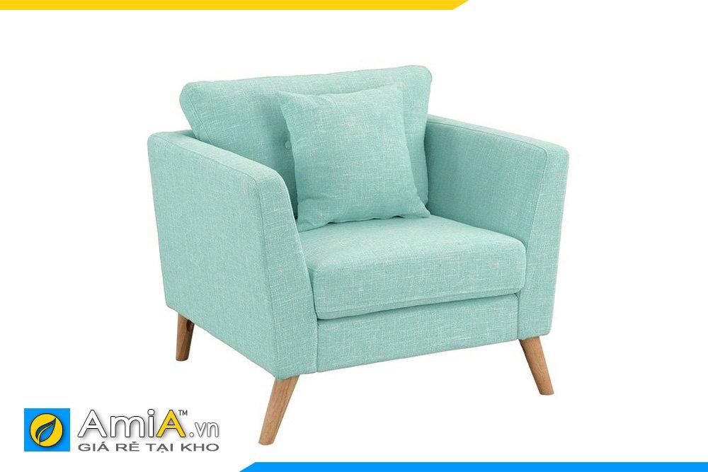 Ghế đơn nỉ thô màu xanh dương