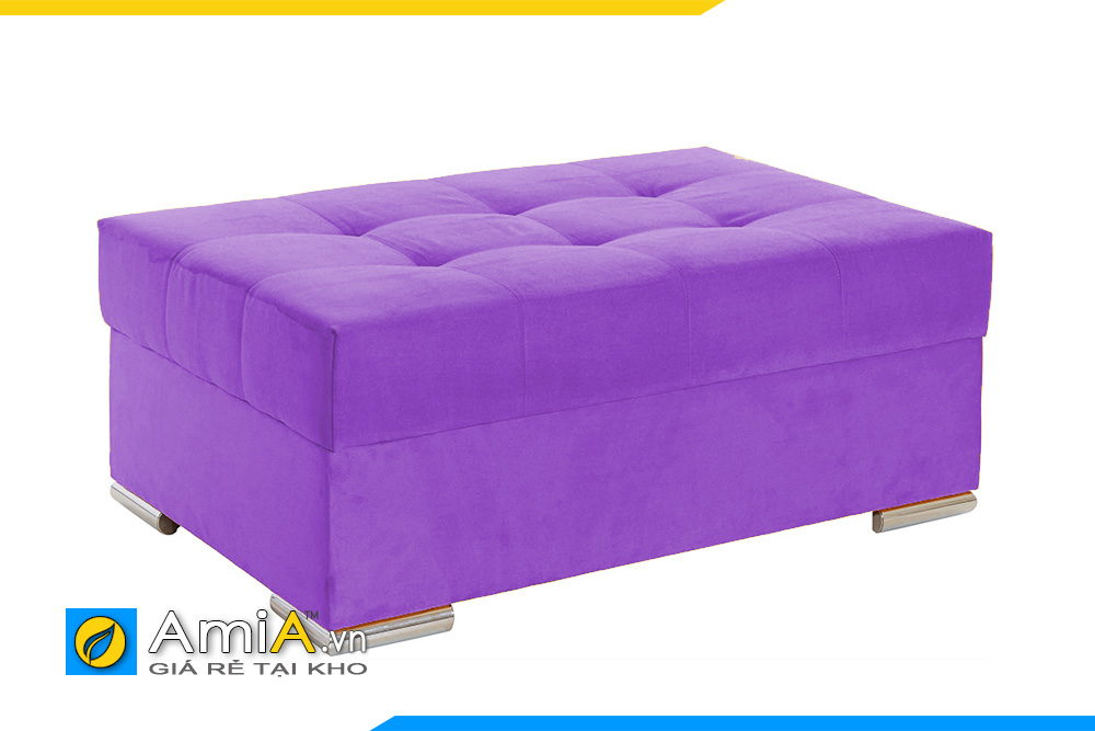 Sofa băng dài màu tím cho tiệm làm đẹp, spa