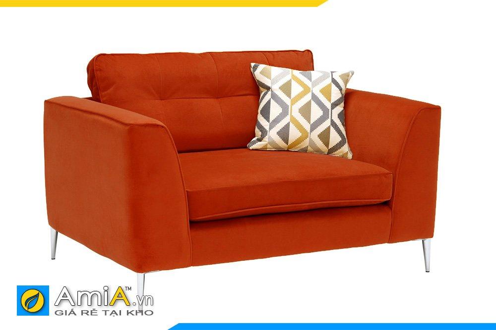Màu cam giúp cho chiếc ghế đơn này thêm phần sành điệu và độc đáo hơn