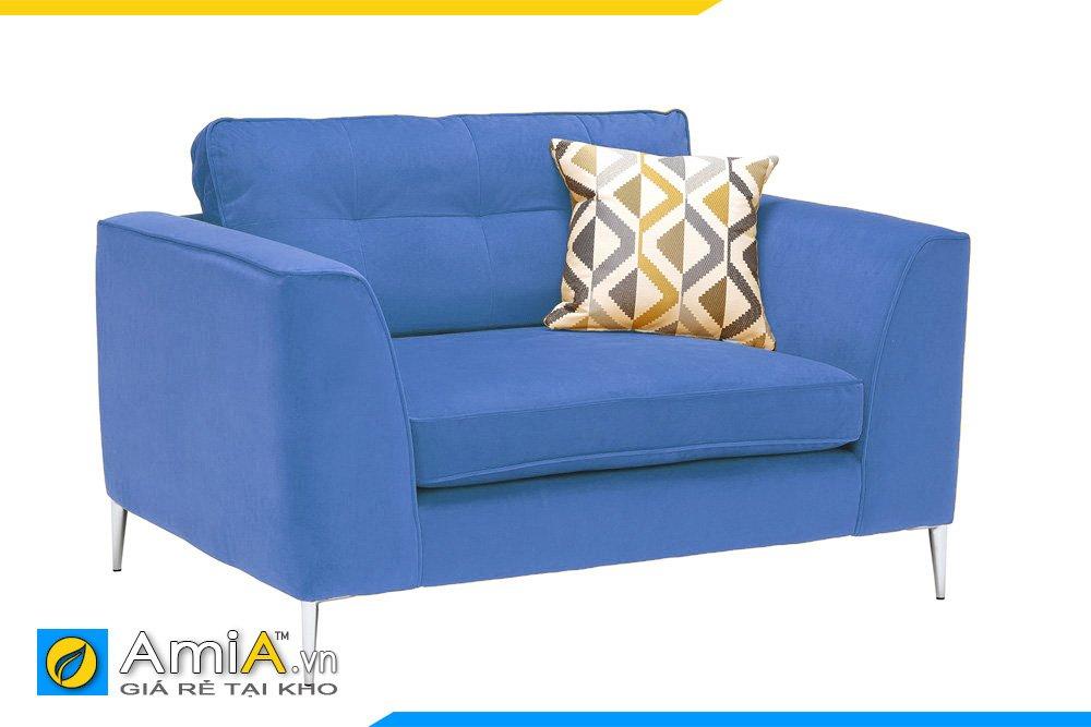 Chiếc ghế sofa màu xanh lam, xanh Navy sẽ phù hợp với các không gian tông màu xanh nhạt