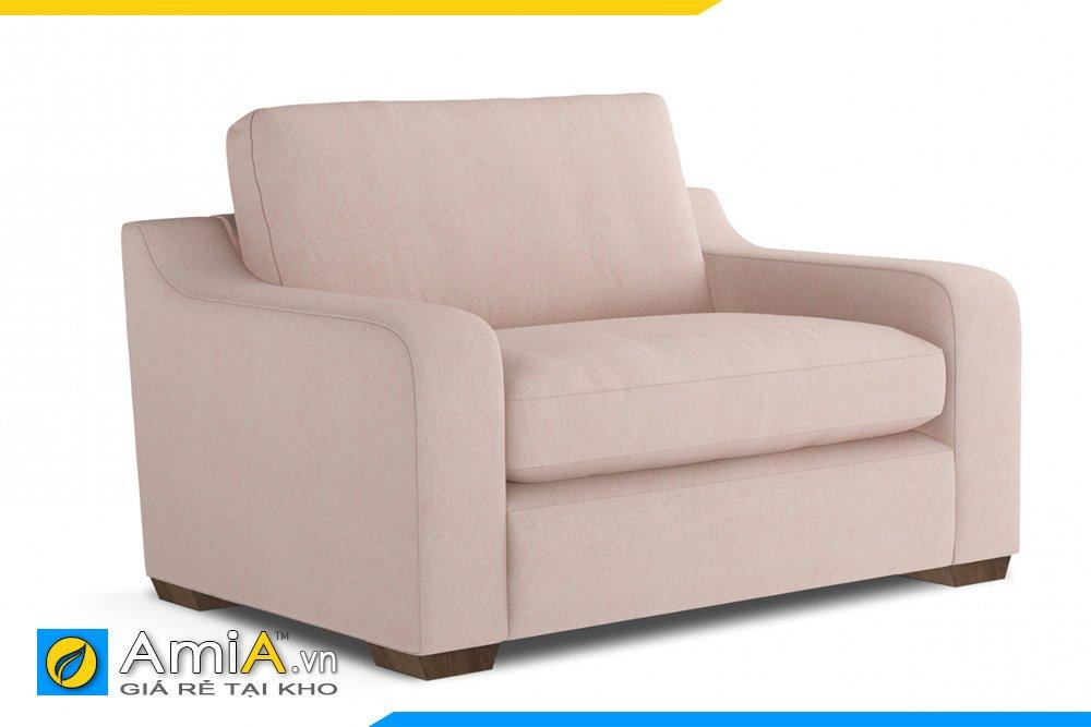 Sofa đơn màu kem