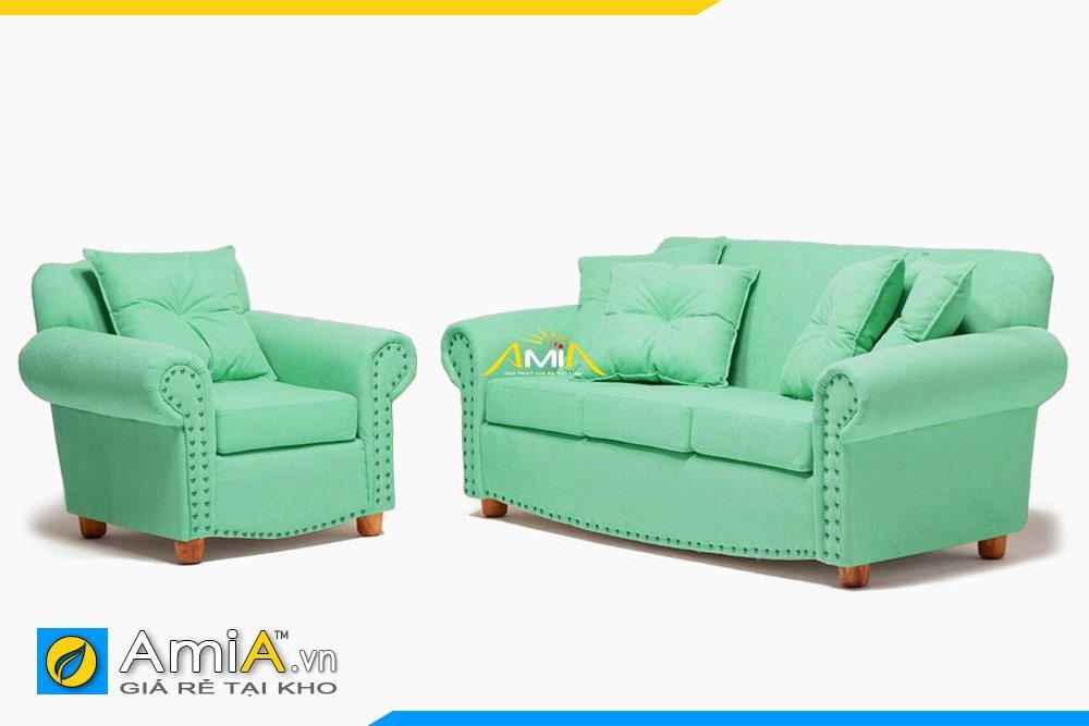 Hình ảnh bộ sofa tân cổ điển màu xanh lơ