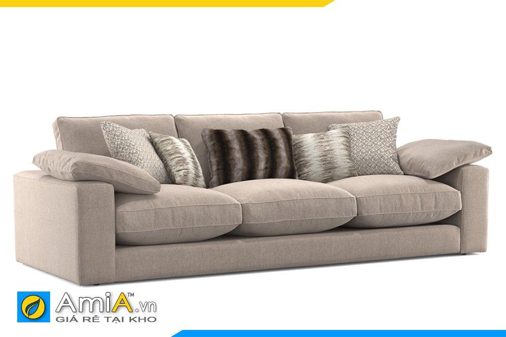 Sofa văng nỉ 3 chỗ ngồi chân thấp, tựa tay vuông, đệm có thể tháo rời