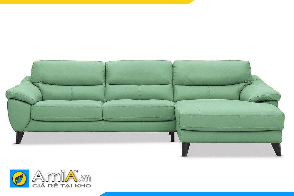 Sofa da màu xanh lơ mang nét trẻ trung, tinh tế