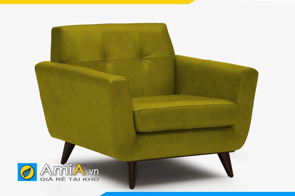 Sofa đơn màu rêu hiện đại