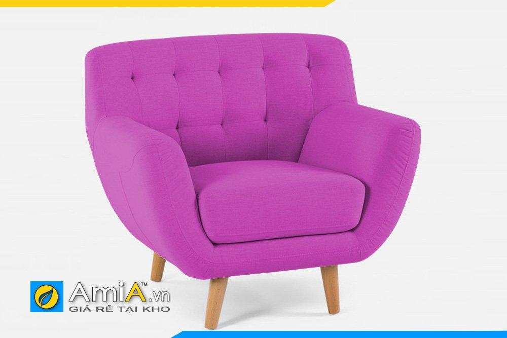 Sofa đơn 1 chỗ ngồi màu tím