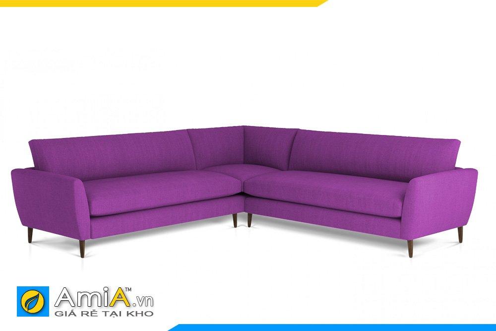 Sofa vải nỉ chữ V hiện đại điểm nhấn thú vị cho không gian rộng