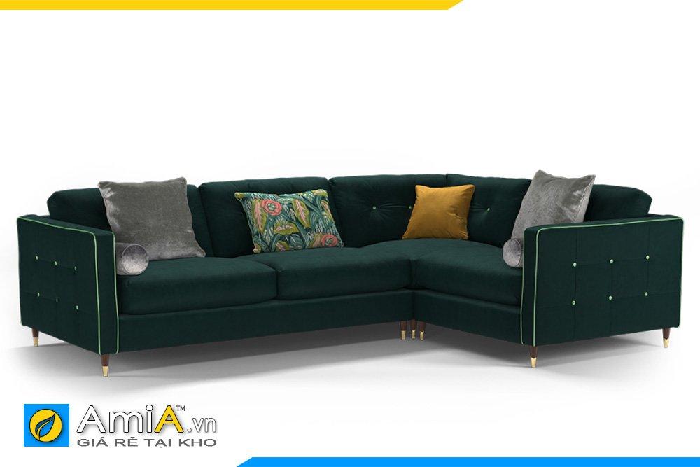 Sofa vải nỉ quây góc chữ L có tựa tay 2 đầu