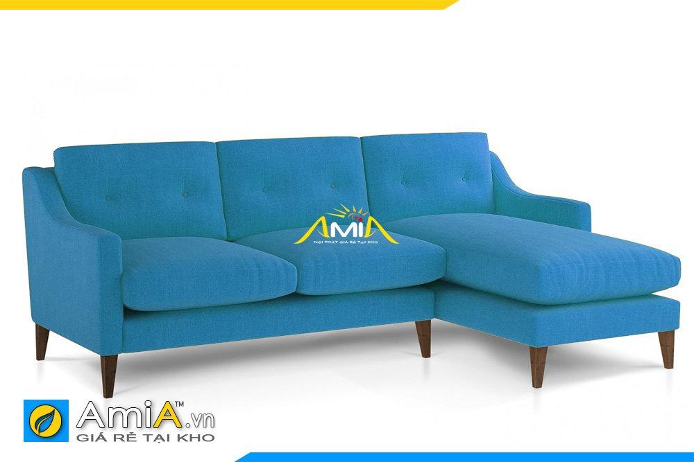 Sofa nỉ màu xanh Navy kiểu dáng góc chữ L