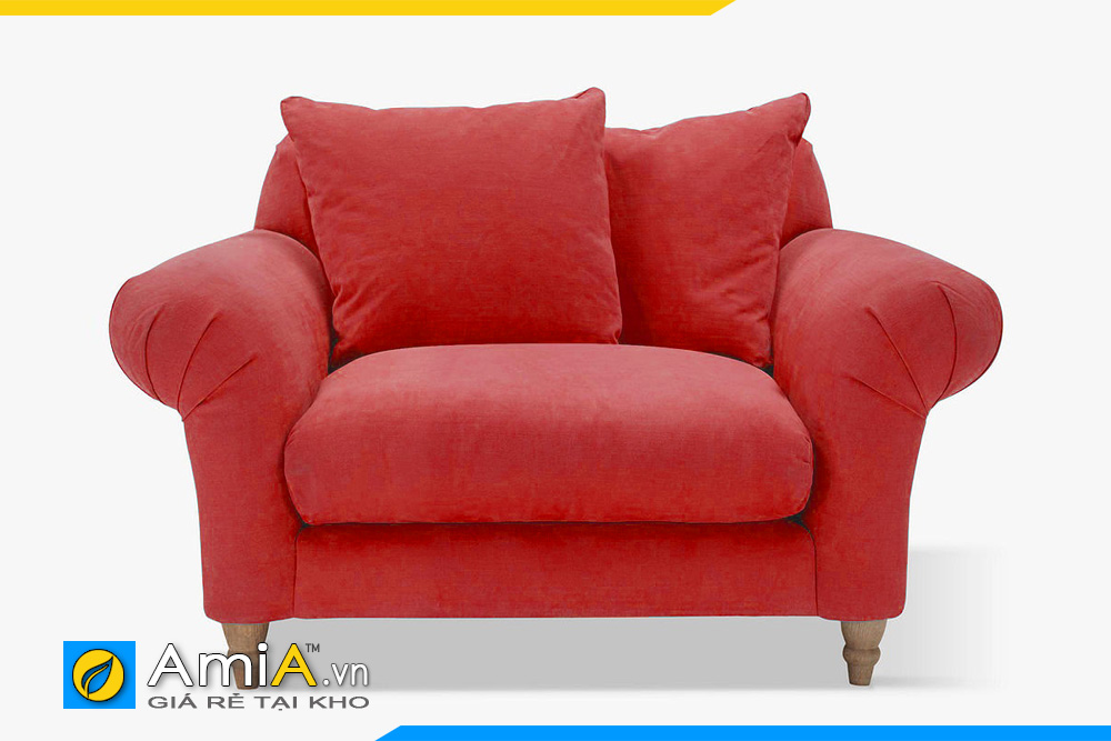 Sofa đơn dàng tân cổ điển màu đỏ