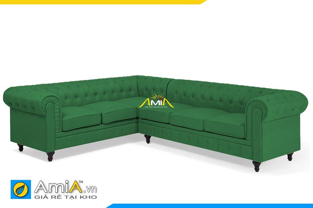 Sofa tân cổ điển màu xanh lá cây