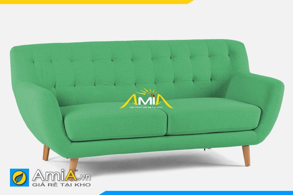 Sofa văng nỉ 2 chỗ ngồi màu xanh lá