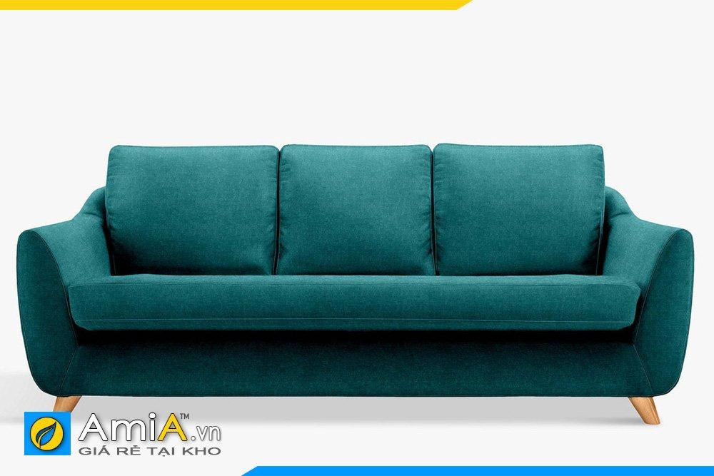 Sofa văng nỉ 3 chỗ ngồi đệm liền chân cao dễ vệ sinh
