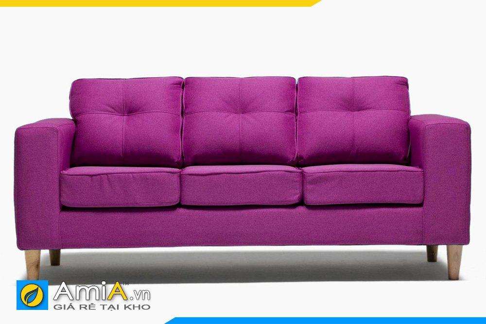 Sofa màu tím kiểu dáng văng dài 3 chỗ ngồi