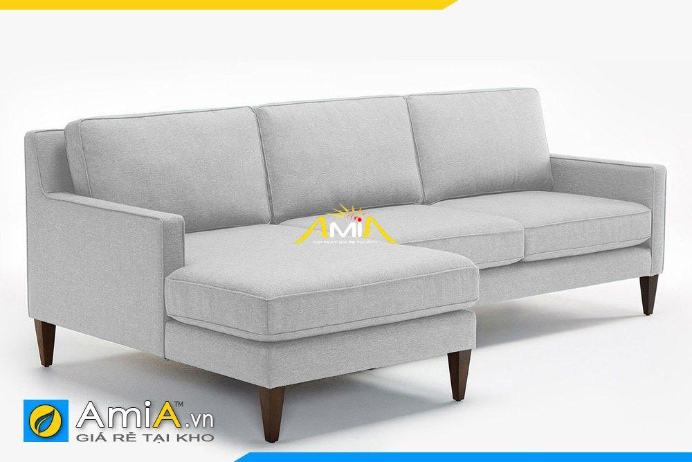 Sofa góc màu ghi sáng hiện đại kiểu dáng chữ L
