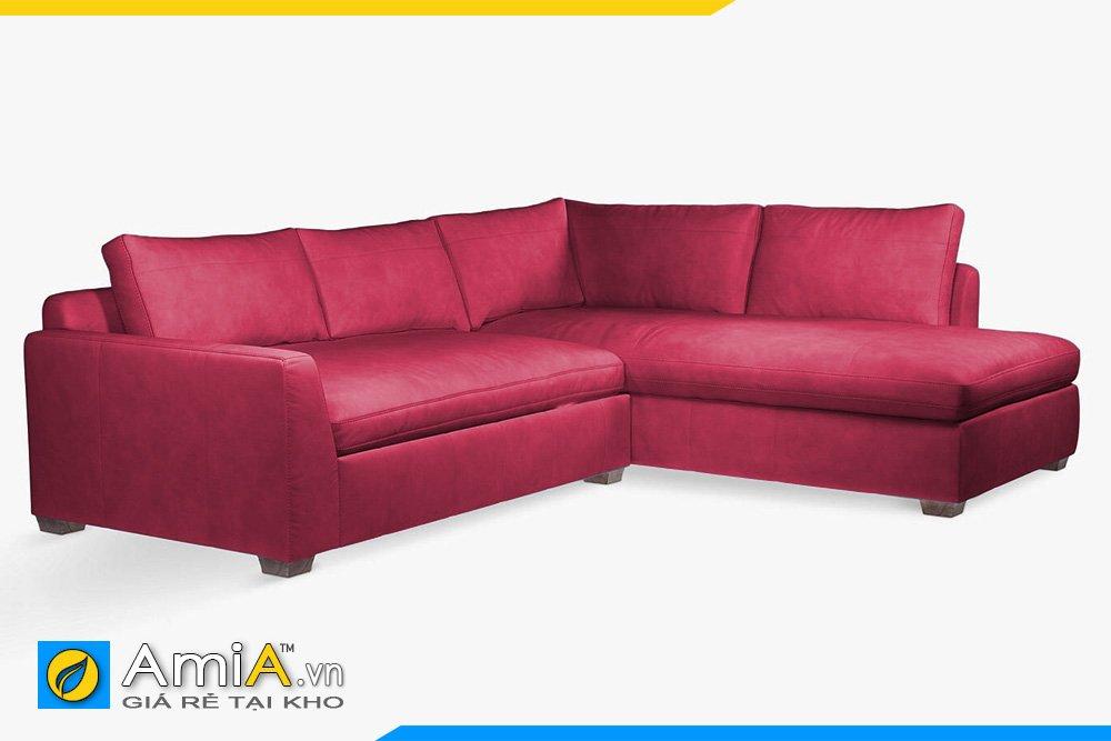 Bộ sofa góc da AmiA 20049 màu đỏ