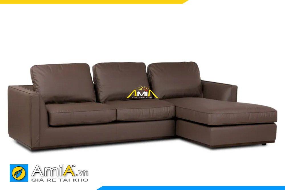 Sofa màu nâu gụ kiểu dáng góc chữ L