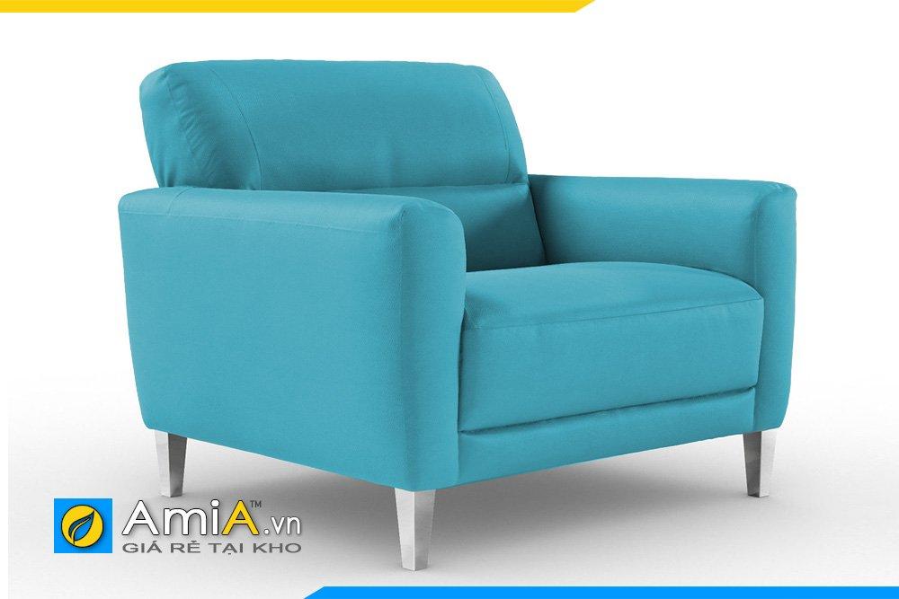 Sofa đơn màu xanh được nhiều chị em phụ nữ yêu thích trong những ngày hè