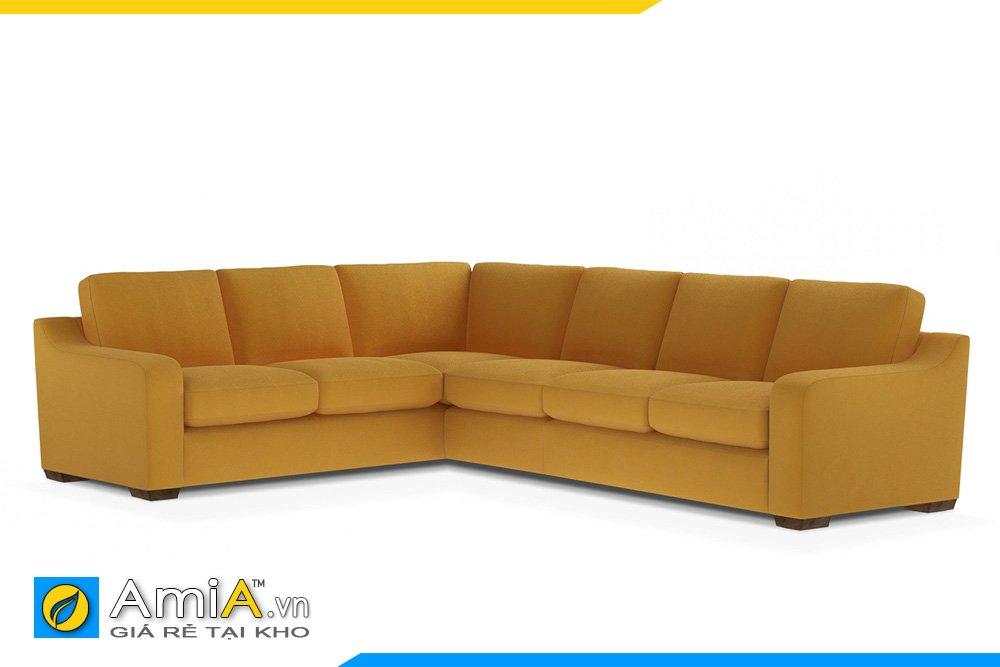 Bộ sofa nỉ màu vàng nâu kiểu dáng chữ L