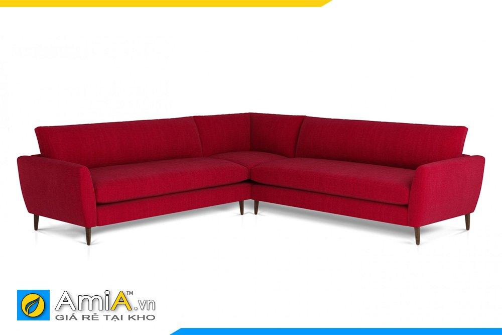 Sofa vải nỉ màu đỏ kiểu dáng chữ V