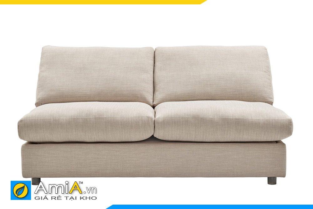Chiếc ghế sofa nỉ màu kem 2 chỗ ngồi không tay, tựa lưng rời