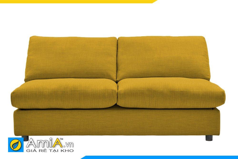 Sofa nỉ 2 chỗ khồng không ty màu vàng chanh