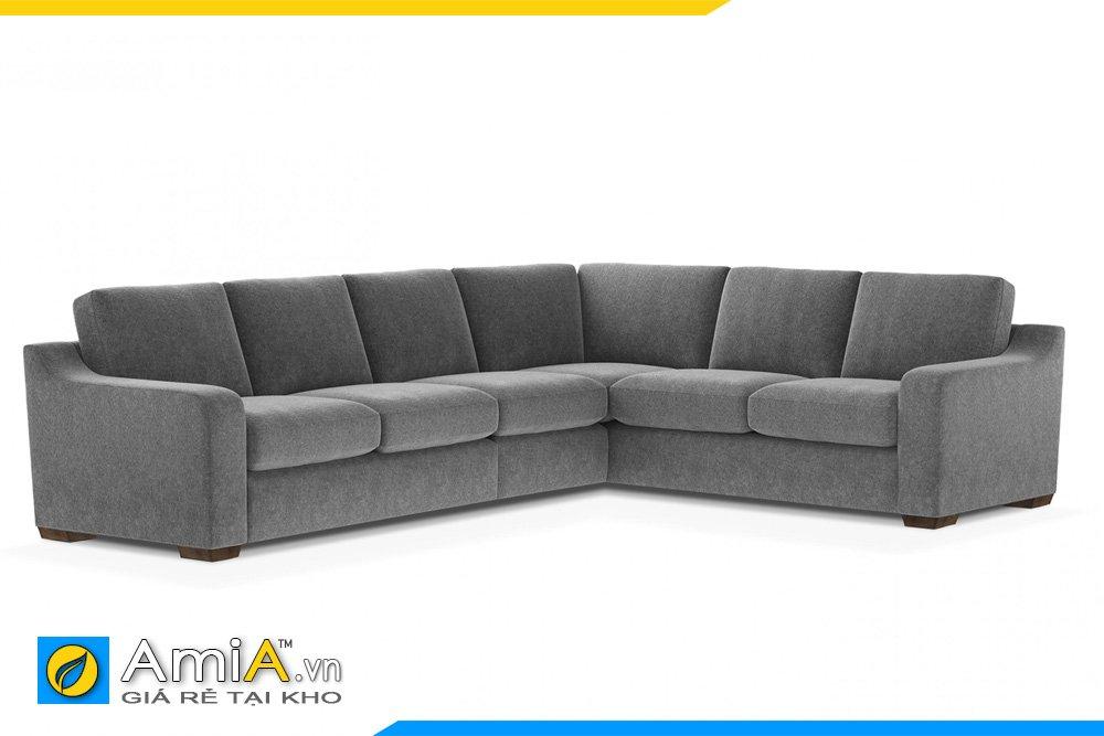 Bộ sofa nỉ màu ghi xám kiểu dáng chữ L