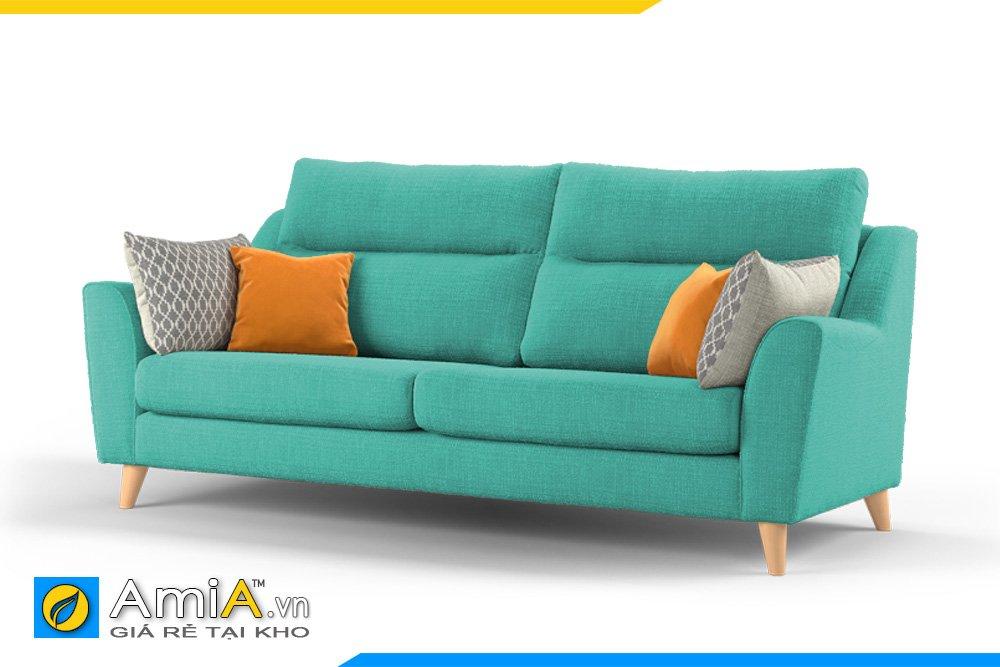 Sofa văng nỉ 2 chỗ ngồi màu xanh lơ AmiA 20037