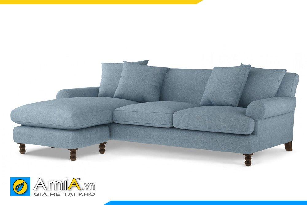 Sofa màu xanh kiểu dáng chữ L
