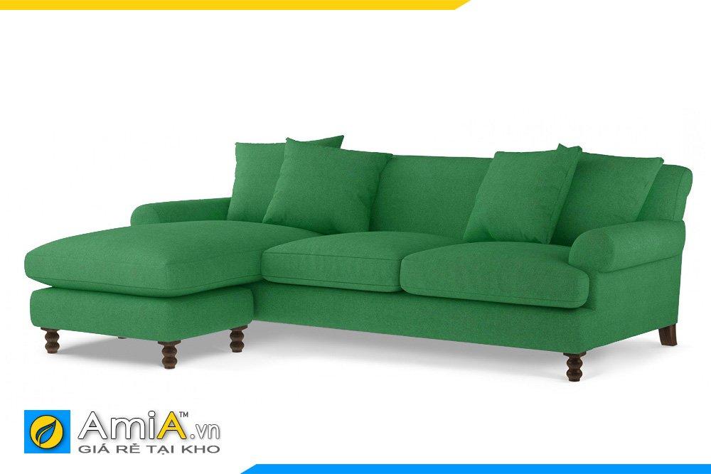 Sofa màu xanh lá kiểu dáng chữ L