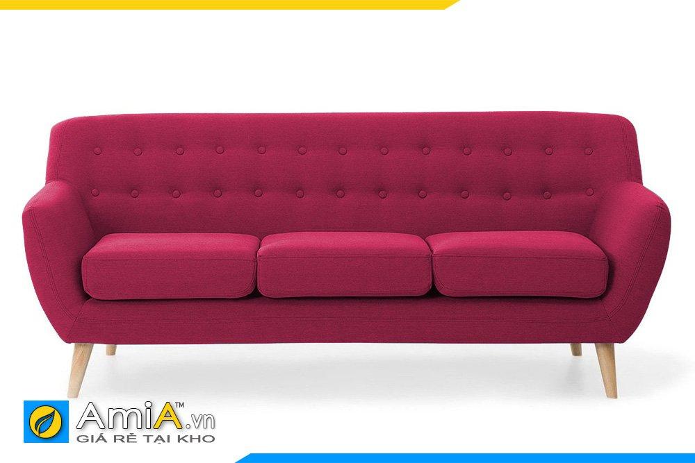 Sofa văng nỉ 3 chỗ ngồi màu tím đậm có đệm ngồi có thể tháo rời dễ vệ sinh
