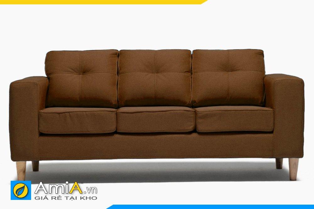 Sofa văng 3 chỗ ngồi màu cafe cháy sẽ là một điểm nhấn cho phòng khách màu nâu